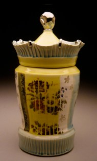 jar 2003, porcelain, decals, luster
