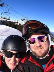 Jen & Craig skiing Les Gets