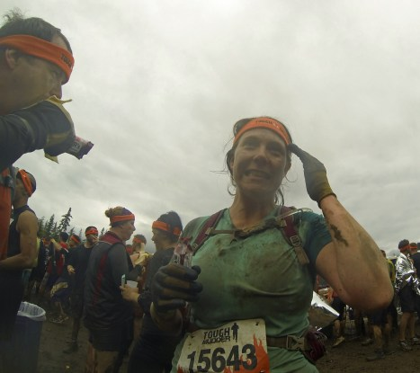 Finished! Now fully equipped with Orange Headband & Protein Bar. Where is the beer?