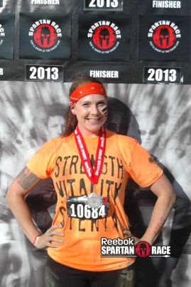 Jen, the official Spartan Finisher!