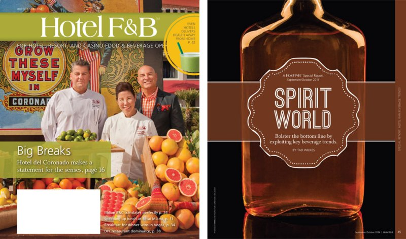 Hotel F&B Magazine Cover Designed and Photographed (left), Hotel F&B Magazine Feature Opener (right)