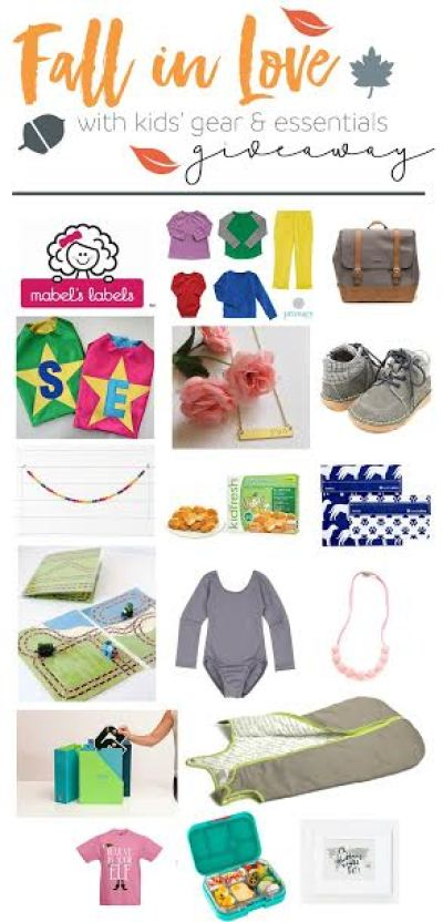 fall kids gear and essentials giveaway