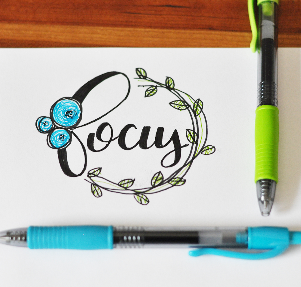 A faux calligraphy tutorial my monthly mantra real