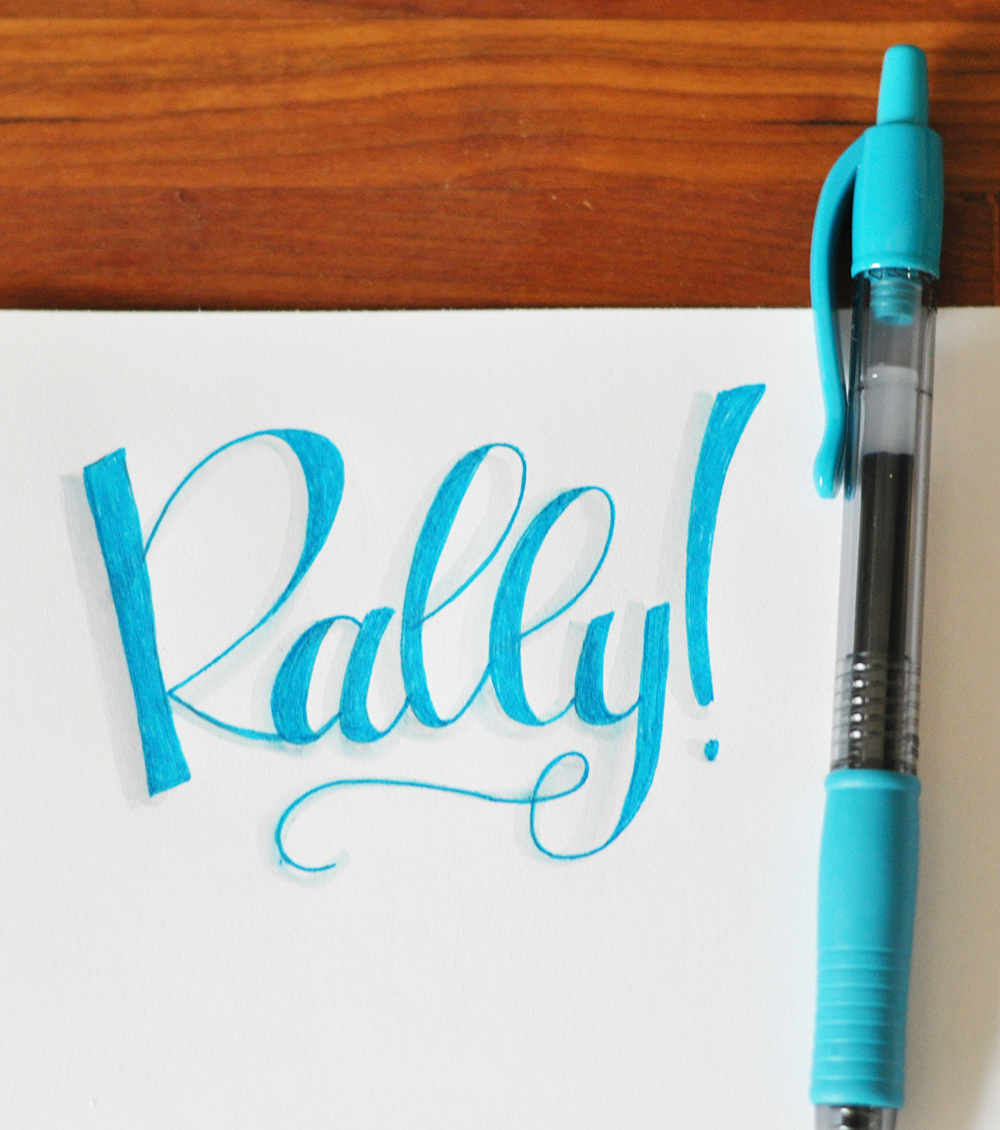 A faux calligraphy tutorial my monthly mantra real Easy calligraphy pen