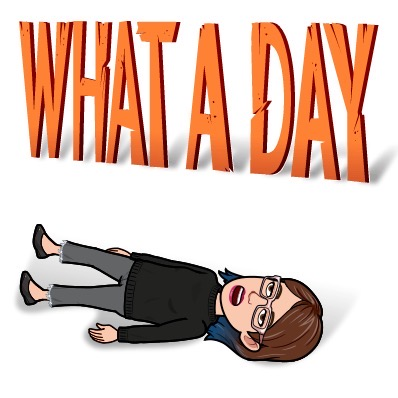 Bitmoji goodness: What a day!   Day in the Life of a Content Manager