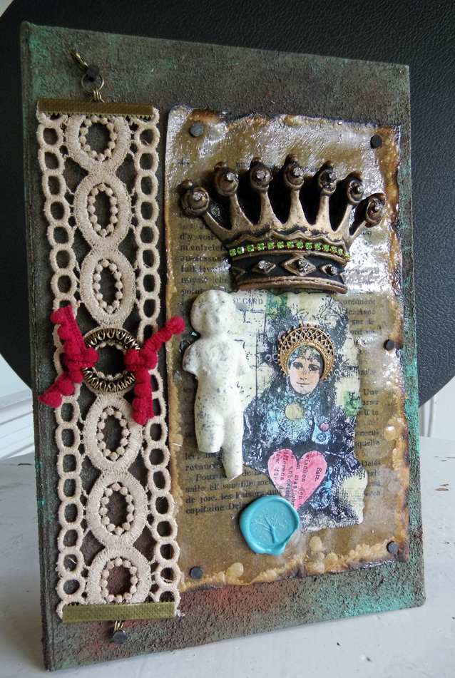 jewelry box assemblage front