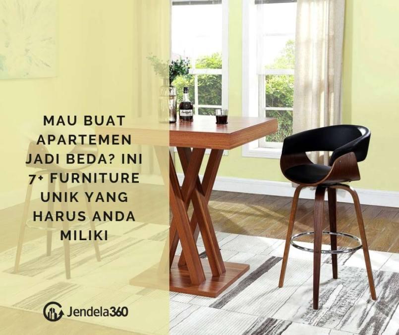 Mau Buat Apartemen Jadi Beda? Ini 7+ Furniture Unik yang Harus Anda Miliki