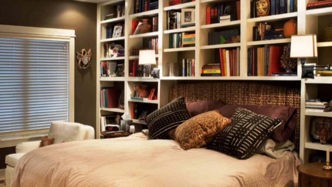 Rak Buku Tempat Tidur