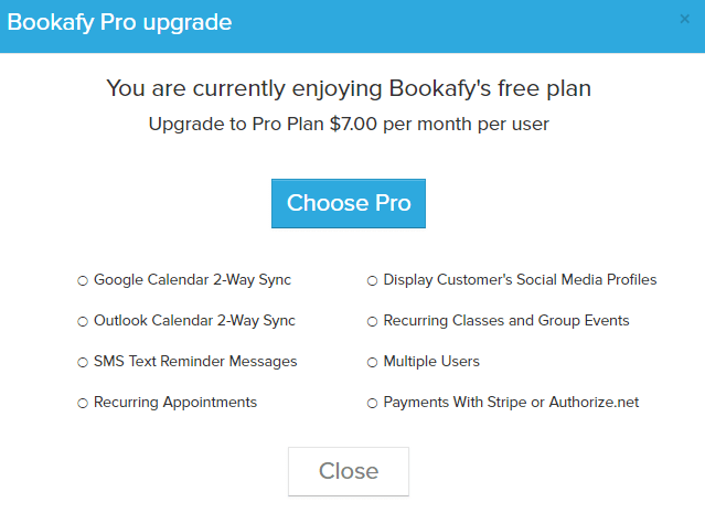 upgrade bookafy