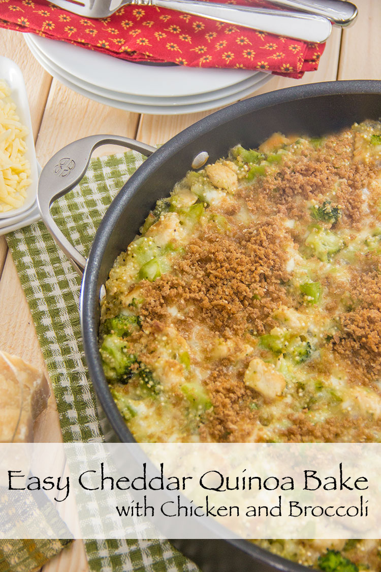 Cheddar-Quinoa-Bake-with-Chicken-and-Broccoli-(Easy-and-Healthy!)