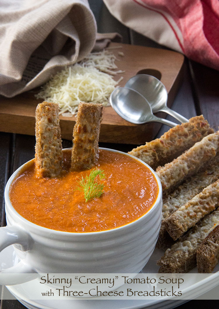 Skinny-Tomato-Soup-with-Three-Cheese-Bread-Sticks