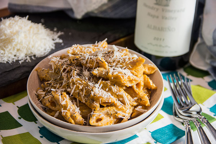 Creamy-Butternut-Sauce-with-Penne-and-Parmesan