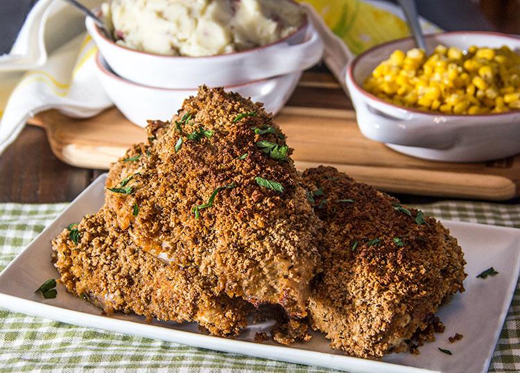 Honey-Mustard-Oven-Fried-Chicken