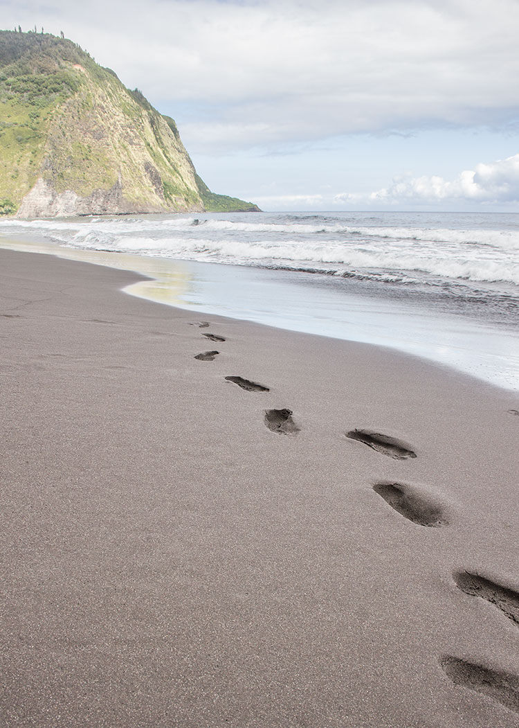 Waipio-Black-Sand-Beach