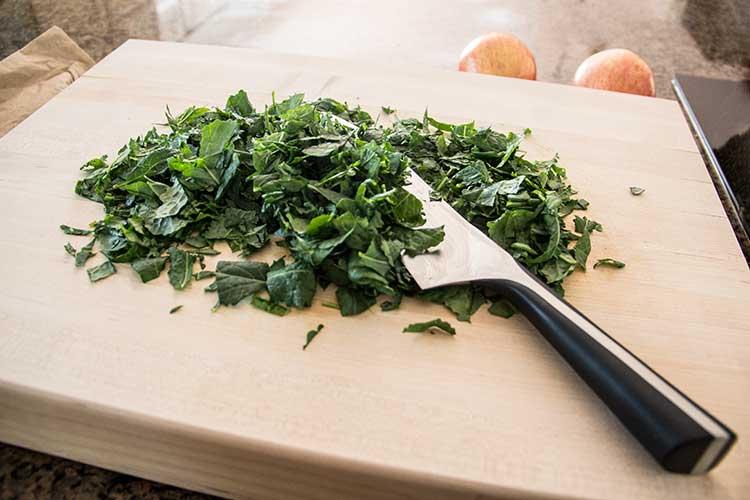 chopping-kale