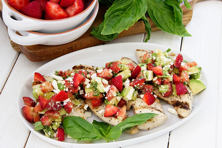 Grilled-Chicken-with-Strawberry-Avocado-Salsa
