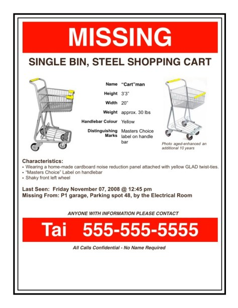 Missing Cart Poster