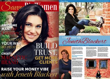 Savvy Biz Women Magazine with Jeneth Blackert