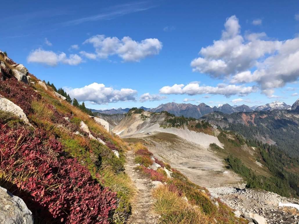 Ptarmigan Ridge Trail Fall Color Hike in North Cascades