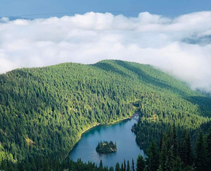 Olympic National Park - Lake Angeles Overlook