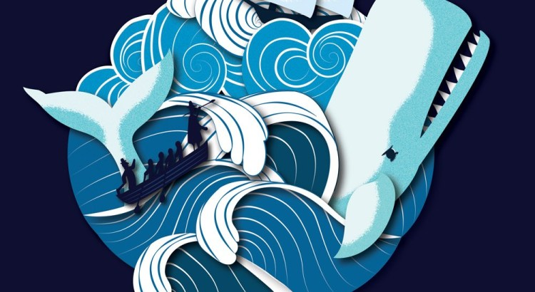 Moby Dick Cover Illustrated by Jennifer Farley