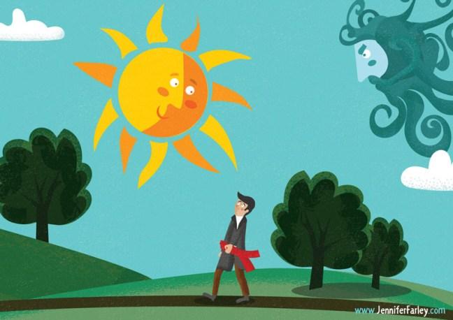 5-SunShining  illustrated by Jennifer Farley
