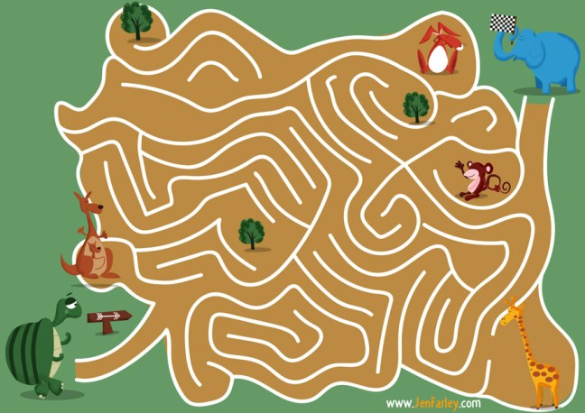 Hare-and-Tortoise-Activity-Maze