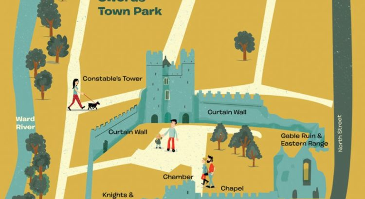 Swords Castle Map Illustrated by Jennifer Farley