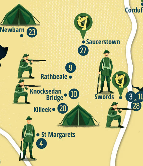 Fingal 1916 Rising Map by Jennifer Farley