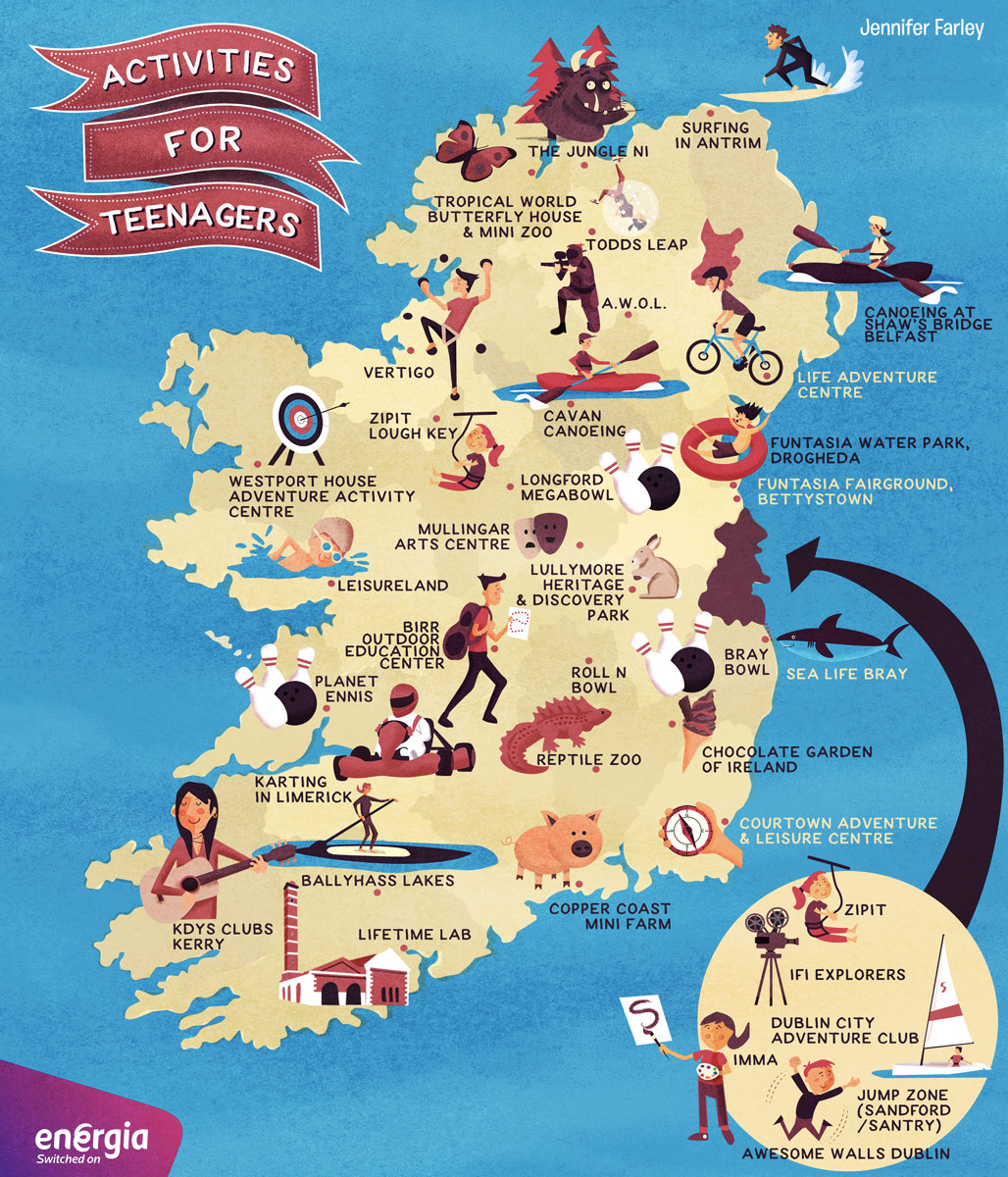 Activities For Teenagers Map of Ireland Jennifer Farley