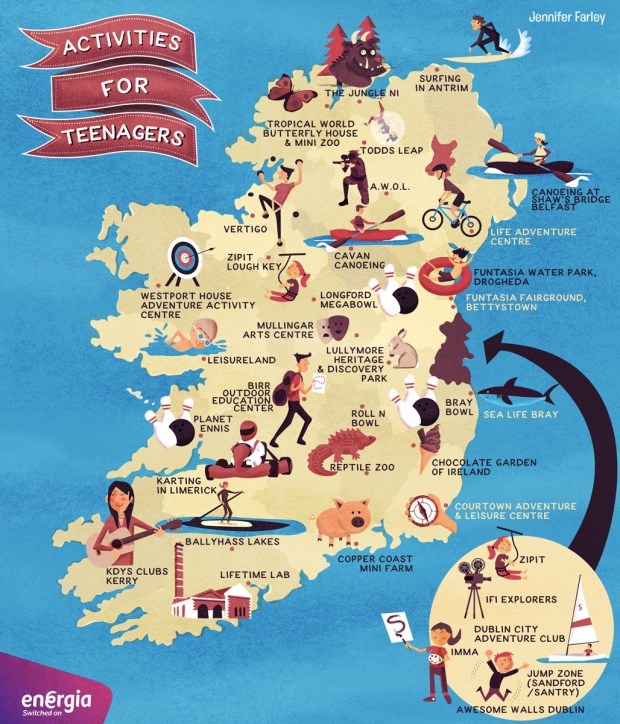 Map Of Ireland Activites For Teenagers by Jennifer Farley