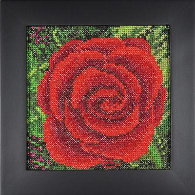 Stitching for Literacy - Cross Eyed Kat pattern, Mini-Impressionist Rose