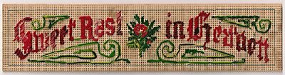 Stitching for Literacy, Don's Sweet Rest bookmark