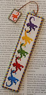 Stitching for Literacy: Monkey Read, Monkey Do cross stitch bookmark pattern from Funk & Weber Designs