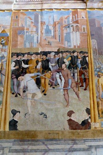 Painting at Castiglione del Lago