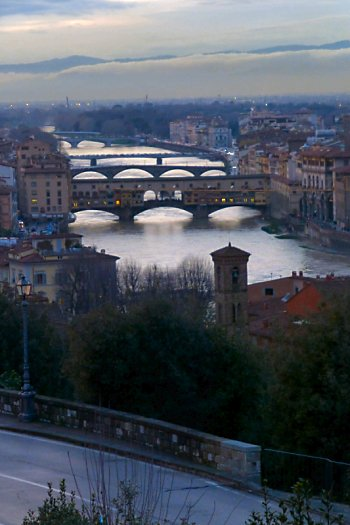 The Arno River from Piazzale Michelangelo