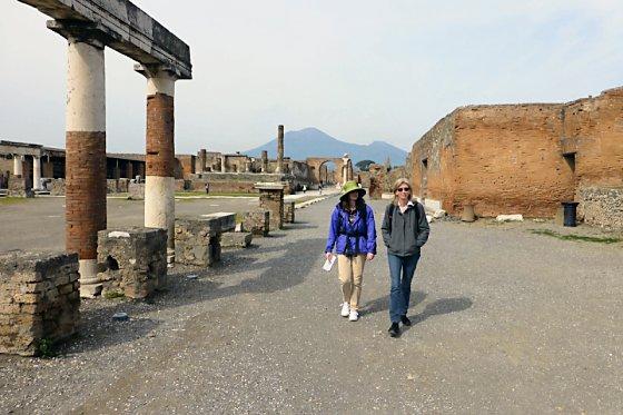 Mt. Vesuvius and the Forum in Pompeii
