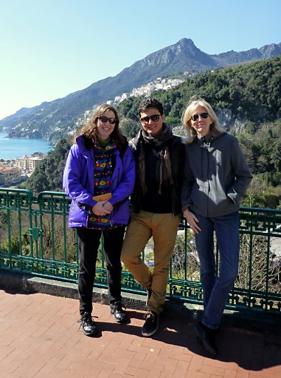 Our Vietri sul Mare homeowner, Luca, with me and Barb.
