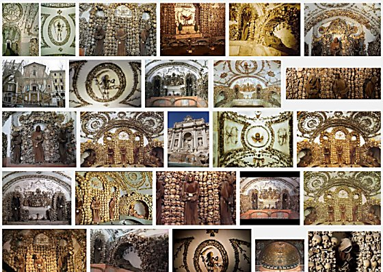 """A screen shot of a Google image search for """"Capuchin Crypt"""""""