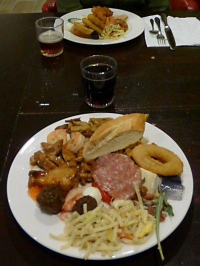 Plate full 'o food