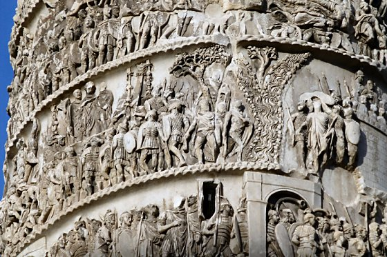 Detail of the spiral relief on the Column of Marcus Aurelius.