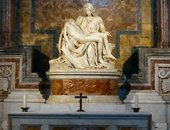 Michelangelo's Pieta in the Basilica of St. Peter.