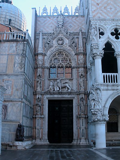 A side entrance to St. Mark's.