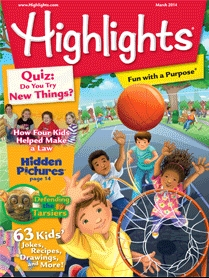 Cover of March 2014 Highlights Magazine