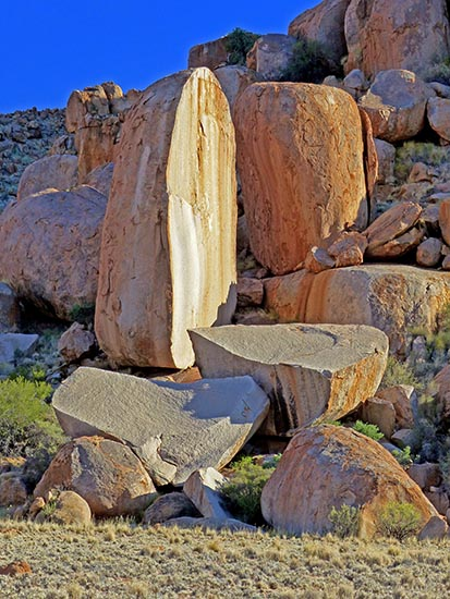 Rock formation, Tiras Guest Farm, Namibia