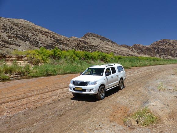Driving on the Hoanib River