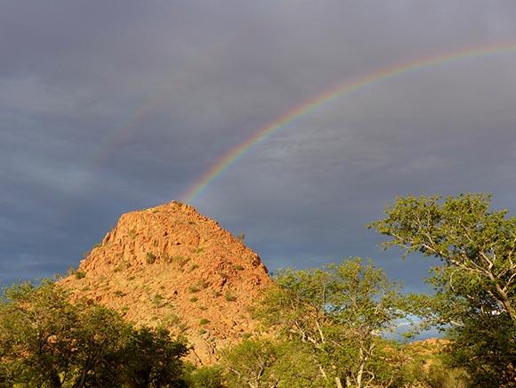 Rainbow, Namibia