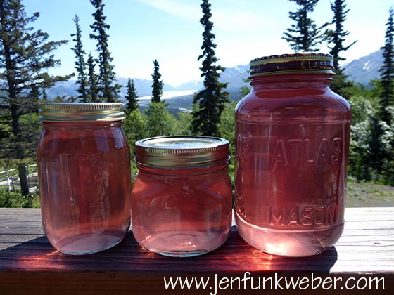Rose petal syrup made with bottled water