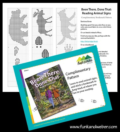 Been There, Done That: Reading Animal Signs cross-stitch pattern