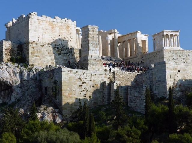 Crowd entering the Acropolis - Jen Funk Weber